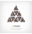 pyramid people sign vector image vector image