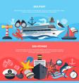 sea voyage banners set vector image vector image