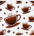 seamless background coffee vector image