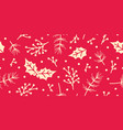 seamless christmas pattern with spruce holly vector image vector image