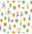 seamless transport pattern people and vector image