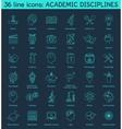 set academic disciplines icons vector image