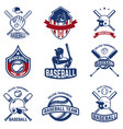 set of baseball emblems baseball tournament vector image vector image