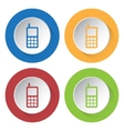 set of four icons - old mobile phone with antenna vector image vector image
