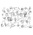 Set of sketch elements vector image vector image