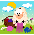 sheep knits yarn vector image