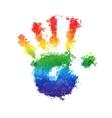 splashed children palm prints vector image vector image