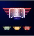 sport emblem typography super dad hero logotype vector image