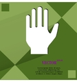 Stop hand Flat modern web design on a flat vector image