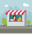 store retail flat cartoon vector image