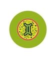 stylish icon in color circle Zodiac sign Gemini vector image vector image