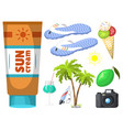 summer time beach sea shore realistic accessory vector image vector image