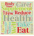 Take Care of Your Health Easy Steps text vector image vector image