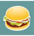 The Hamburger vector image vector image