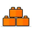 toy blocks icon design vector image