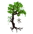 tree tattoo on white vector image