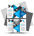 tri-fold brochure design template blue color vector image vector image