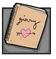 urban hipster diary vector image