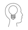 user profile with bulb silhouette avatar icon vector image vector image