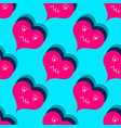 valentines day seamless pattern red hearts vector image vector image