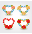 Valentines design elements Floral Hearts vector image