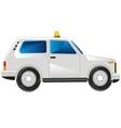 White passenger car vector image vector image