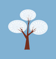 winter tree decorate stylized snow naked vector image vector image