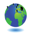 world and the people on it vector image vector image