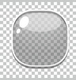 Glass button games template vector image