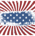 american flag background vintage abstract vector image