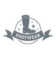 footwear logo vintage style vector image