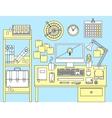 Flat modern design concept of office workspace vector image