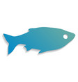 fish icon flat for web vector image