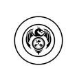 flying dragon emblem vector image