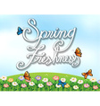 A spring freshness template vector image vector image