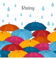 Abstract background with colored umbrellas and vector image vector image