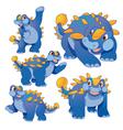 Ankylosaurus blue vector image