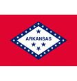 Arkansan state flag vector image