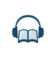 audiobook icon on white vector image vector image