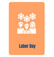 best wishes to employees greeting card with glyph vector image