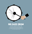 Big Bass Drum Music Instrument vector image vector image