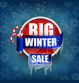 big winter sale concept background vector image vector image