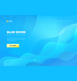 blue abstract background landing page website vector image