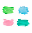 blue green yellow and pink watercolor paint vector image