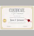 certificate achievement retro design template 3 vector image vector image