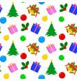 christmas pattern seamiess vector image vector image