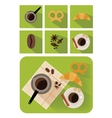 Coffee objects vector image vector image