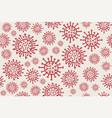coronavirus cells poster virus 2019-ncov bacteria vector image