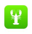 crayfish icon digital green vector image vector image
