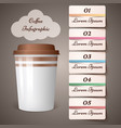 cup coffee tea - business infographic vector image